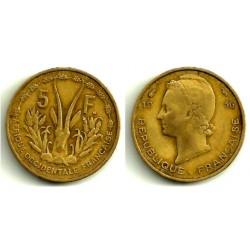 Estados África Oeste. 1956. 5 Francs (BC+)