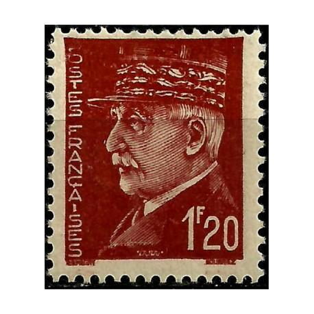 (438) Francia. 1941-42. 1,20 Francs. Marshal Pétain (Nuevo)