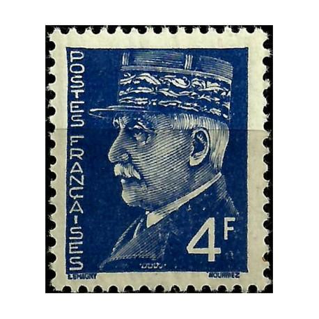 (446) Francia. 1941-42. 4 Francs. Marshal Pétain (Nuevo)