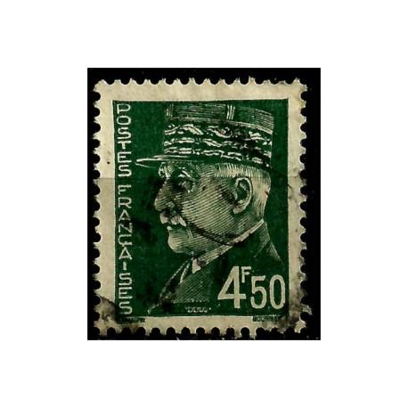 (447) Francia. 1941-42. 4,50 Francs. Marshal Pétain (Usado)