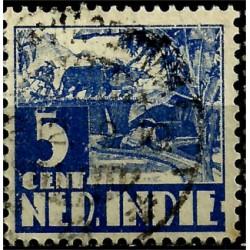 (170) Indias Holandesas. 1933-37. 5 Cents (Usado)