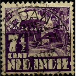 (171) Indias Holandesas. 1933-37. 7½ Cents (Usado)