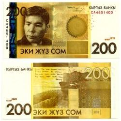 (27a) Kirguizistán. 2010. 200 Som (SC)