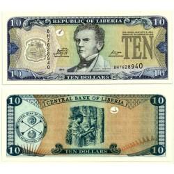 (27f) Liberia. 2011. 10 Dollars (SC)