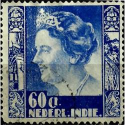 (184) Indias Holandesas. 1934. 60 Cents. Wilhelmina (Usado)