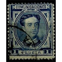 (180) 1876. 1 Peseta. Alfonso XII (Usado)