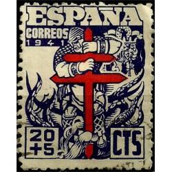 (949) 1941. 20 + 5 Céntimos. Pro Tuberculosos (Usado)