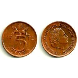 (181) Países Bajos. 1972. 5 Cents (MBC+)