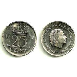 (183) Países Bajos. 1977. 25 Cents (SC)