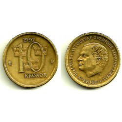 (877) Suecia. 1992. 10 Kronor (MBC)