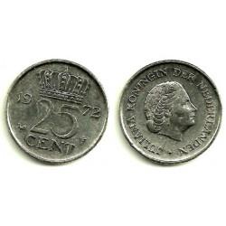 (183) Países Bajos. 1972. 25 Cents (MBC-)