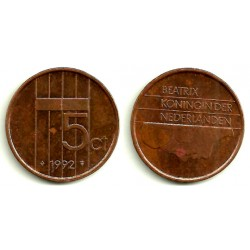 (202) Países Bajos. 1992. 5 Cents (MBC)