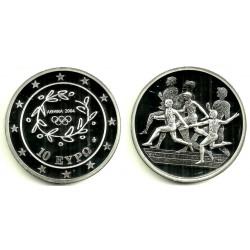 Grecia. 2004. 10 Euro (Proof) (Plata) Juegos Olímpicos. Runner