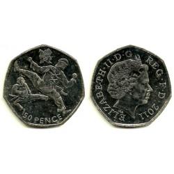 (1185) Gran Bretaña. 2011. 50 Pence (SC-)