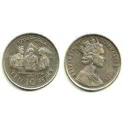 (1047) Gibraltar. 2004. 10 Pence (SC)