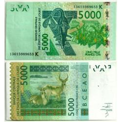 (717Ka) Estados África Oeste. 2003. 5000 Francs (MBC+)