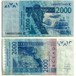 (716Ka) Estados África Oeste. 2003. 2000 Francs (BC)
