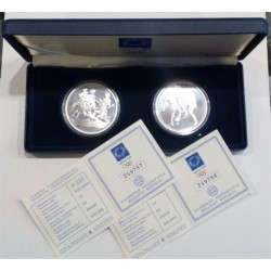 Grecia. 2004. Estuche Oficial. 10 Euro (x2) (Proof) (Plata)