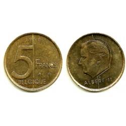 (189) Bélgica. 1998. 5 Francs (MBC+)