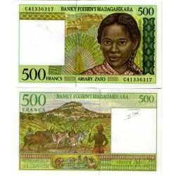 (75b) Madagascar. 1994. 500 Francs (SC)
