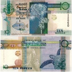 (36a) Seychelles. 1998-2008. 10 Rupees (SC)