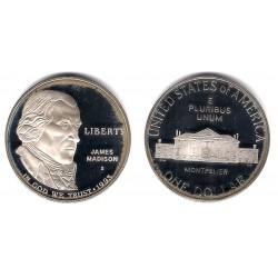 (241) Estados Unidos de América. 1993(S). 1 Dollar (Proof) (Plata)