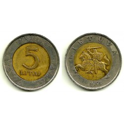 (112) Lituania. 1999. 5 Litai (MBC)