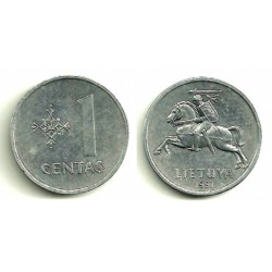 (85) Lituania. 1991. 1 Centas (EBC)