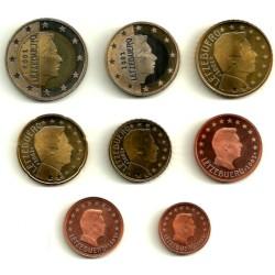 Luxemburgo. 2002. Serie Completa (8 Valores) (SC)