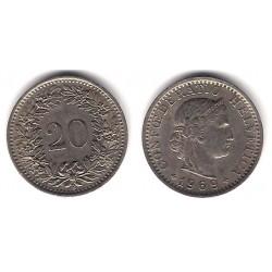 (29a) Suiza. 1969(B). 20 Rappen (MBC)