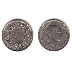 (29a) Suiza. 1962(B). 20 Rappen (MBC+)