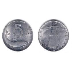(92) Italia. 1955(R). 5 Lira (EBC)