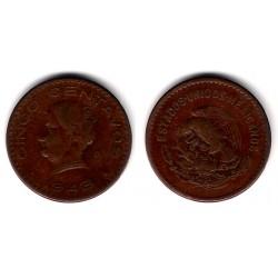 (424) Estados Unidos Mexicanos. 1943. 5 Centavos (MBC-)