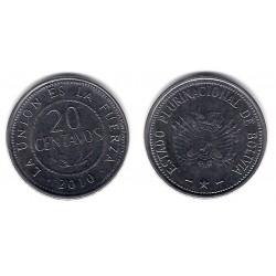 (214) Bolivia. 2010. 20 Centavos (EBC)