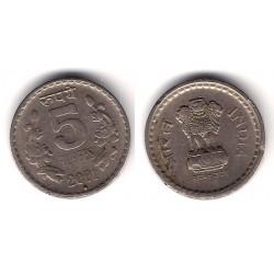 (154.4) India. 2001. 5  Rupees (MBC-)