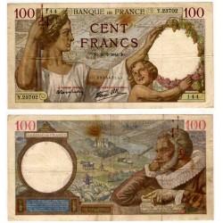 (94) Francia. 1941. 100 Francs (MBC-) Manchas Oxido