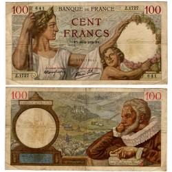 (94) Francia. 1939. 100 Francs (BC+) Pequeñas Roturas