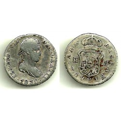 Fernando VII. 1830. 1 Real (BC/BC+) (Plata) Ceca de Madrid AJ