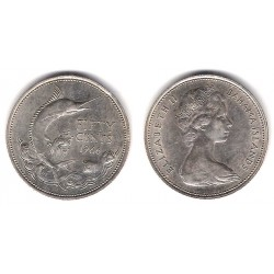(7) Bahamas. 1966. 50 Cents (EBC) (Plata)