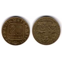 (2975.1) Austria. 1991. 20 Schilling (EBC+)