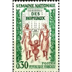 (1033) Francia. 1962. 30 Centimes. Semana Nacional Hospitales (Nuevo)