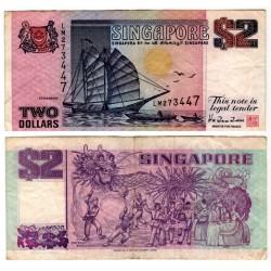 (28) Singapur. 1992. 2 Dollars (MBC-)