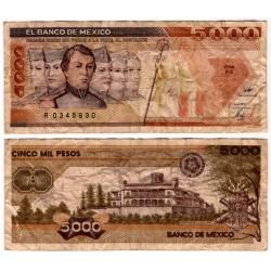 (88c) Estados Unidos Mexicanos. 1989. 5000 Pesos (RC+)