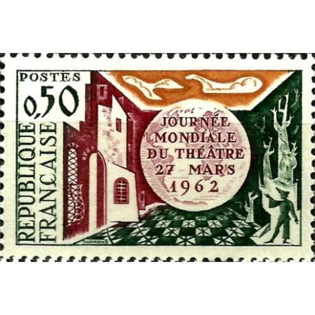 (1028) Francia. 1962. 50 Centimes. Día Mundial Teatro (Nuevo)