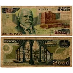 (86c) Estados Unidos Mexicanos. 1989. 2000 Pesos (BC-)