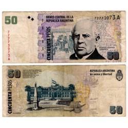 (350) Argentina. 1993-2003. 50 Pesos (BC+) Peq. Rotura Margen Superior.