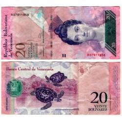 (91e) Venezuela. 2011. 20 Bolivares (MBC-)