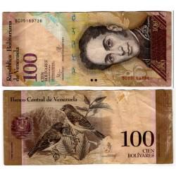 (93i) Venezuela. 2015. 100 Bolivares (MBC) Peq. Escritura.