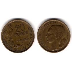 (917.2) Francia. 1952(B). 20 Francs (MBC)