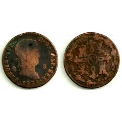Fernando VII. 1833. 8 Maravedi (BC-) Ceca de Segovia